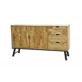 Buffet de rangement vintage industriel 2 portes 3 tiroirs