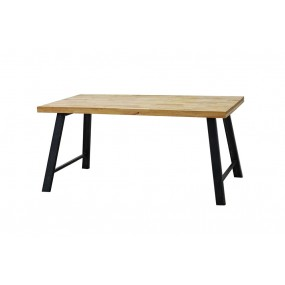 Table repas vintage industrielle 160 cm