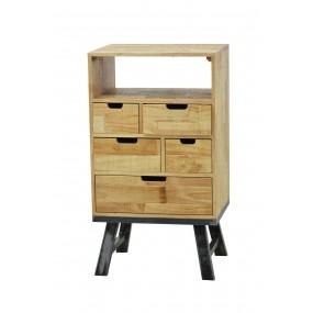 Petit meuble de rangement vintage industriel 5 tiroirs