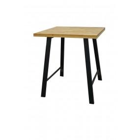 Table haute de bar loft industrielle finition huilée naturelle vieillie
