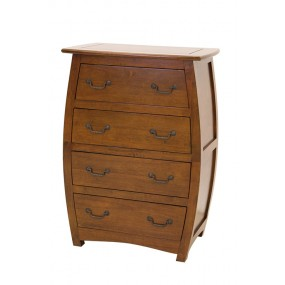 Commode galbée 4 tiroirs Ladin