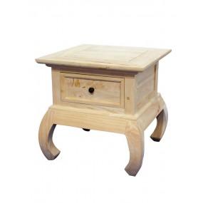 Petite table opium 1 tiroir 50x50x50cm