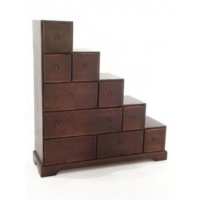 Escalier 10 tiroirs droite Hmong
