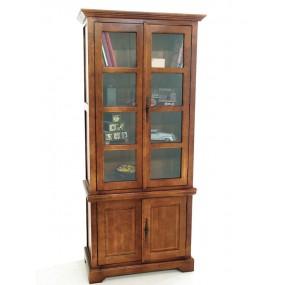 Bibliothèque vitrée 4 portes Yugur