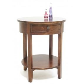 Table bouillotte d'appoint 1 tiroir Ladin