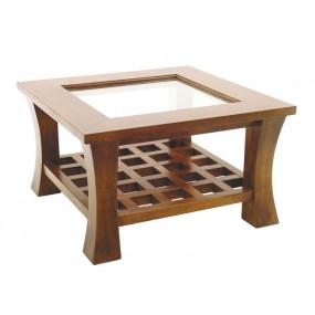 Table basse carrée vitrée petit modèle Blang