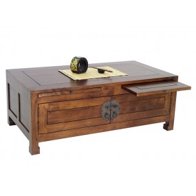 Table basse 4 portes 2 tablettes coulissantes Hmong
