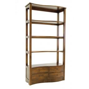 Bibliothèque 4 tiroirs vague Kubu