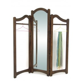 Paravent miroir penderie 3 panneaux de 55cm Yugur