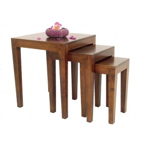Set de 3 tables gigognes Moken