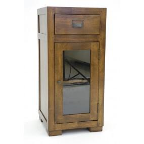 Colonne basse tiroir porte vitrée