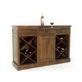 Bar 1 porte 3 tiroirs 3 étagères Teuton