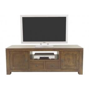 Meuble TV 2 portes 2 tiroirs Maya