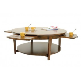 Table basse 4 tablettes coulissantes Moken