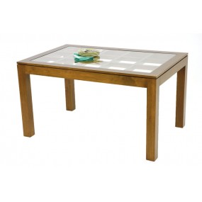 Table repas rectangle vitrine Maya