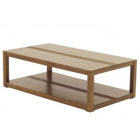 Table basse rectangle double plateau Rapanui