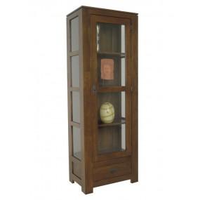 Colonne vitrée 1 porte 2 tiroirs Maya