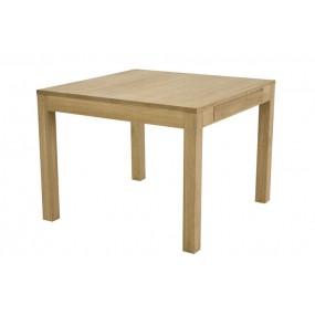 Table repas carrée Sami avec rallonges