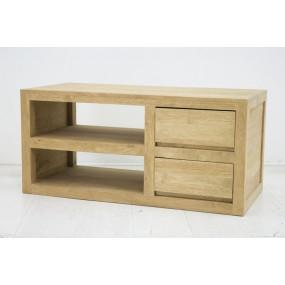 Meuble TV 2 tiroirs combiné Sami