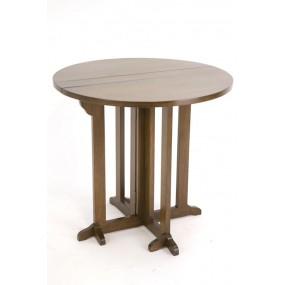 Table ronde plateau à rabats diam 80 Yugur
