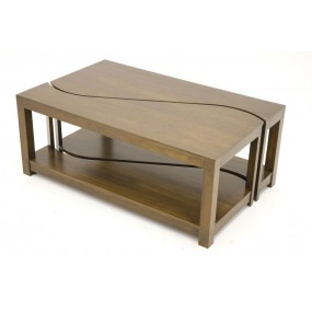 Table basse rectangle 2 éléments Kubu