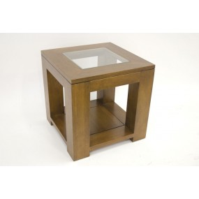 Coin de canapé cube en bois et verre  Moken