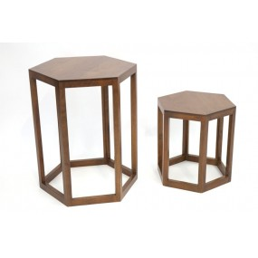Set de 2 tables basses hexagonale Moken