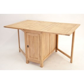 Table repas rectangle pliante 3 tiroirs 1 porte Moken