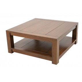 Table basse carrée double plateau Batave