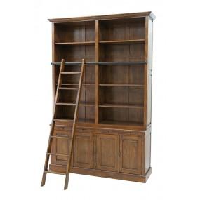 Bibliothèque double 4 portes + échelle 163x47x240 cm Teuton