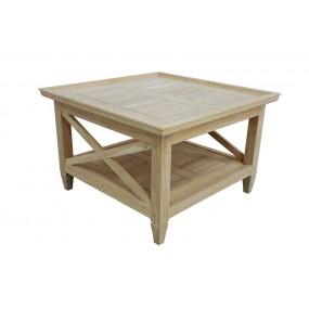 Table basse carrée coloniale moyen modèle Karen