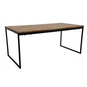 Table Repas simple démontable Wolof finition naturelle vieillie