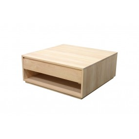 Table basse 2 tiroirs 90x90x45cm Sami