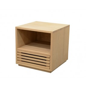 Mini Meuble TV 1 tiroir ajouré 1 niche