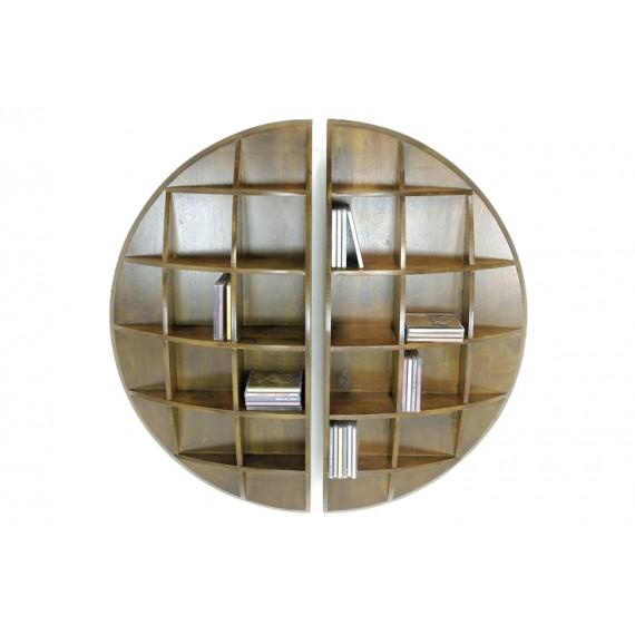 rondes Moken murales demie Set sphère 2 étagères de w0PknO