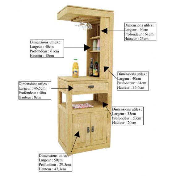 Bar 2 Portes 1 Tiroir Maya Par Nomadde Meubles Design