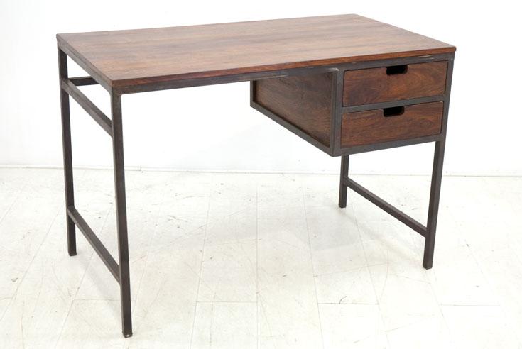 Bureau fer bois tiroirs dong par nomadde meubles design