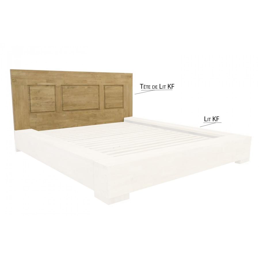 Tete De Lit Ethnique tête de lit à poser pour un lit kf de 160cm sami