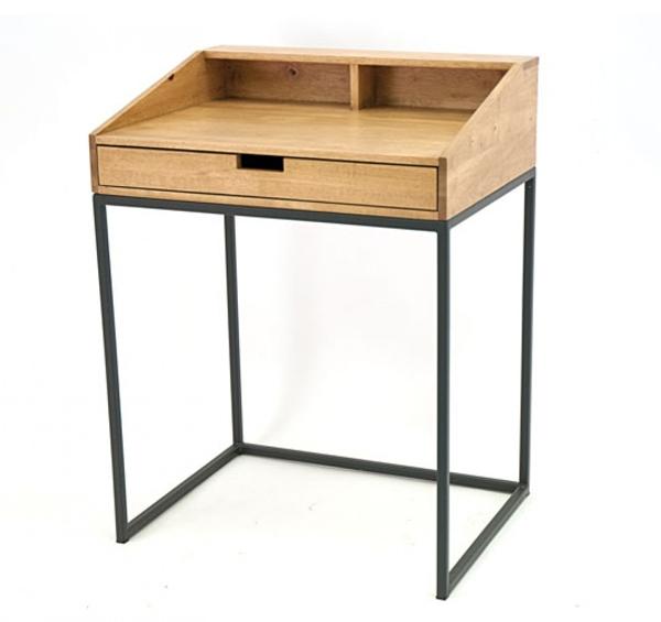 Bureau secrétaire en bois et fer