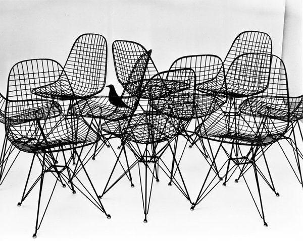 Série de sièges Wire Chair - Charles & Ray Eames