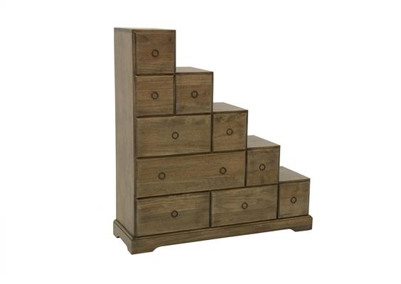 Meuble escalier multiples tiroirs